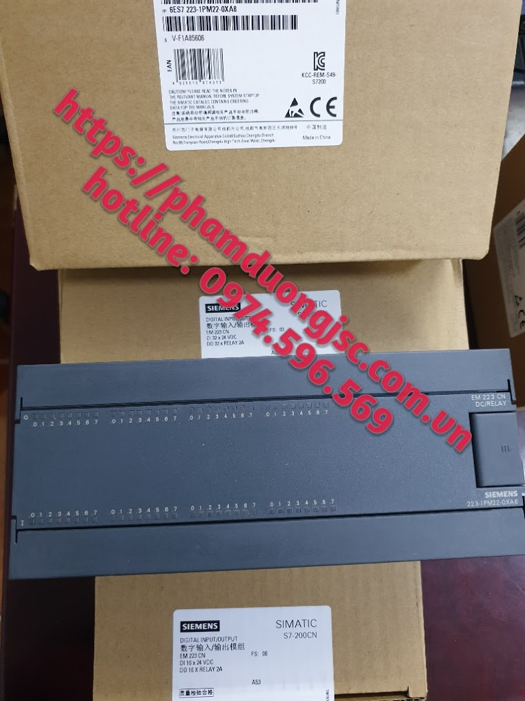 6ES7223-1PM22-0XA8 Mô đun PLC S7-200 EM 223 32DI/32DO