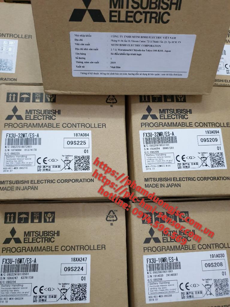 FX3U-16MR/ES-A, FX3U-16MT/ES-A bộ điều khiển lập trình PLCMitsubishi