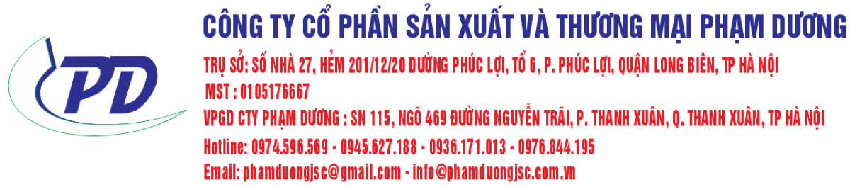 CÔNG TY CỔ PHẦN SẢN XUẤT VÀ THƯƠNG MẠI PHẠM DƯƠNG